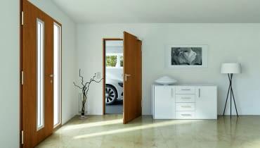 Drzwi prowadzące do domu - i te z zewnątrz, i te z garażu - muszą chronić przed zimnem i włamaniem