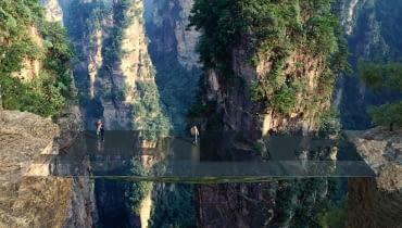 Przezroczyste mosty w Chinach - projekt górskiego szlaku Martin Duplantier