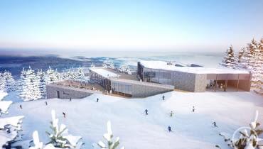 Projekt nowej stacji narciarskiej na Hali Skrzyczeńskiej w Szczyrku