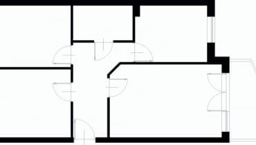 Projektowanie wnętrz. 58,6 m kw. trzypokojowe dla 3 osób