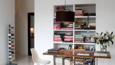 wnętrze, meble, pokój, aranżacja, biblioteka, salon