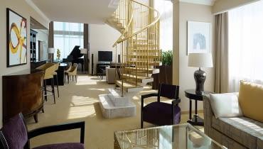 Prezydencki apartament w hotelu Marriott
