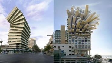 Architektoniczne fotomontaże z Tel Awiwu