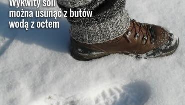Sól sypana zimą na drogi to prawdziwa klęska dla naszych butów
