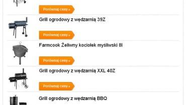 Ranking najczęściej kupowanych grilli przez wyszukiwarkę okazje.info.pl