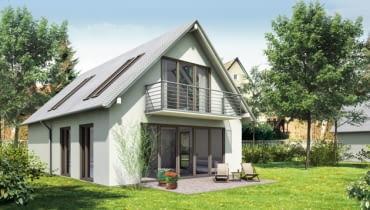 dom jednorodzinny, dom parterowy z użytkowym poddaszem
