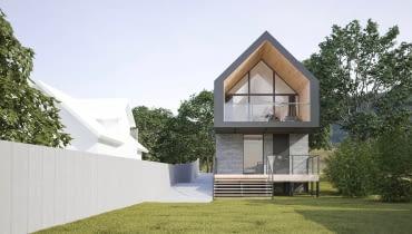 Dom nad jeziorem. Proj. 3XB Architekci Filip Banach