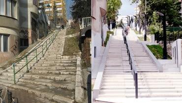 Schody Kaptol w Sarajewie - przykład udanej interwencji architektonicznej w przestrzeni miejskiej
