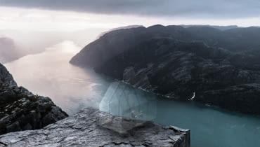 'Kościół Natury' - wyróżnienie w konkursie na projekt kościoła na norweskim klifie Preikestolen