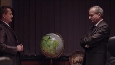 Scena, w której po raz pierwszy można było zobaczyć globus Polski.