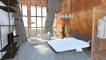 Adaptacja wieży maszyny wyciągowej Szybu Krystyna na budynek wielofunkcyjny - Apartament