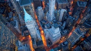 Nowy Jork z lotu ptaka, wieżowce nowego jorku