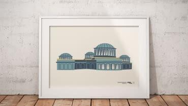 Kto widział modernizm? - cykl grafik przedstawiających budynki wrocławskiej moderny, autorka grafik: Anna Sztromwasser