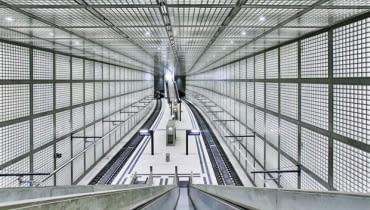 Podziemna stacja kolejowa w Lipsku zaprojektowana przez Maxa Dudlera