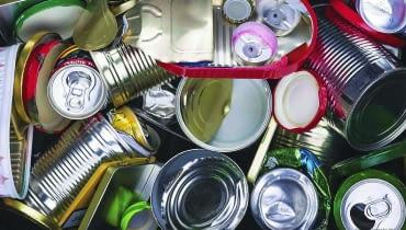Puszki i metalowe opakowania - do odpadów suchych lub osobnego worka