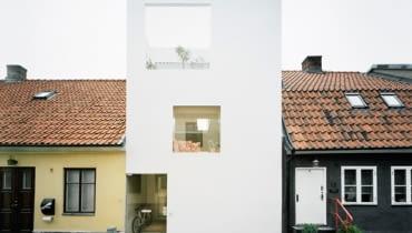 kostka, minimalizm, szwecja, dom jednorodzinny