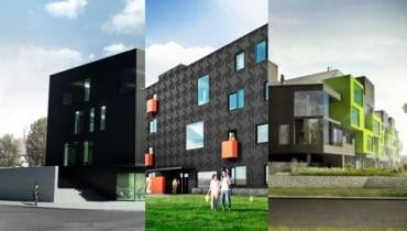 Biurowiec i apartamentowce