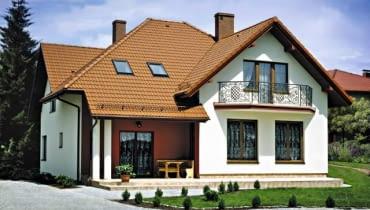 Dach kryty dachówką cementową