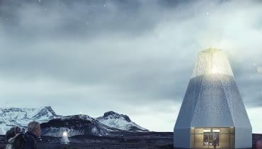 Projekt schroniska dla wędrowców na Islandii