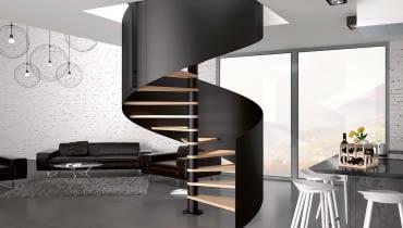TRIO BIS, buk, metal, szer. schodów do wyboru od 120 do 160 cm, na zamówienie, Rintal