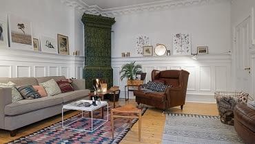 mieszkanie w kamienicy, mieszkanie w starej kamienicy, wysokie mieszkanie, nowoczesne mieszkanie, skandynawski styl