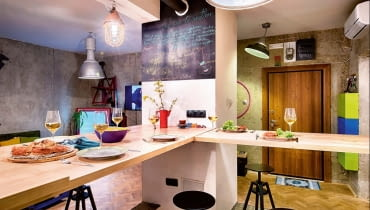 W małych wnętrzach również da się wygospodarować miejsce na stół