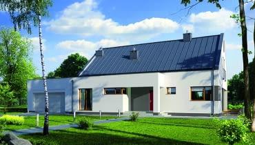 Projekt domu E136 ma potencjał - strych jest do dowolnego wykorzystania