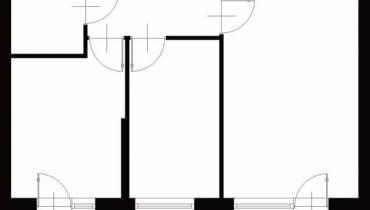 Projektowanie wnętrz. 49,6 m kw. trzypokojowe dla 3 osób