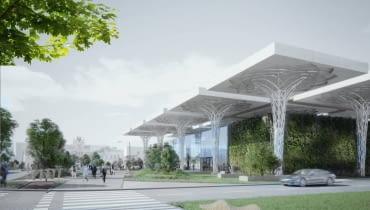 Nowy dworzec w Lublinie - pierwsza koncepcja