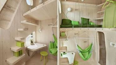 mały dom, małe wnętrza, małe mieszkania, mieszkanie dla studenta, pokój dla studenta