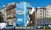 Mural przy ul. Zamoyskiego 29 zrealizowany przez Good Looking Studio