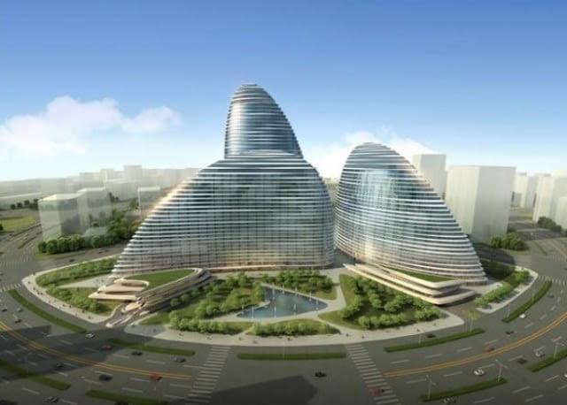 Centrum usługowe Wangjing Soho w Pekinie - projekt.