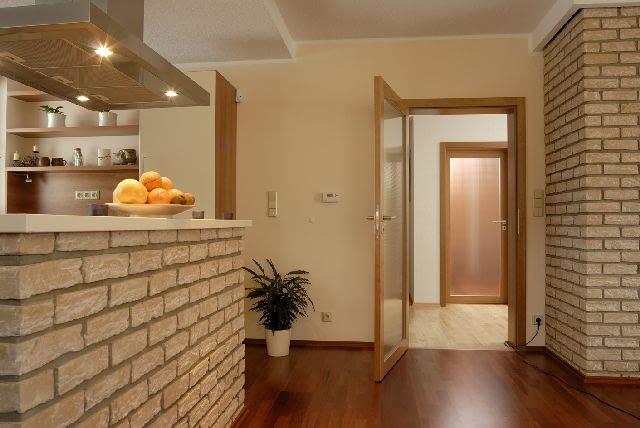aranżacja wnętrz,kuchnia,drzwi wewnętrzne,cegła wew wnętrzach