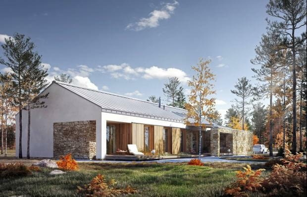 dom parterowy, dom nowoczesny, projekty domów