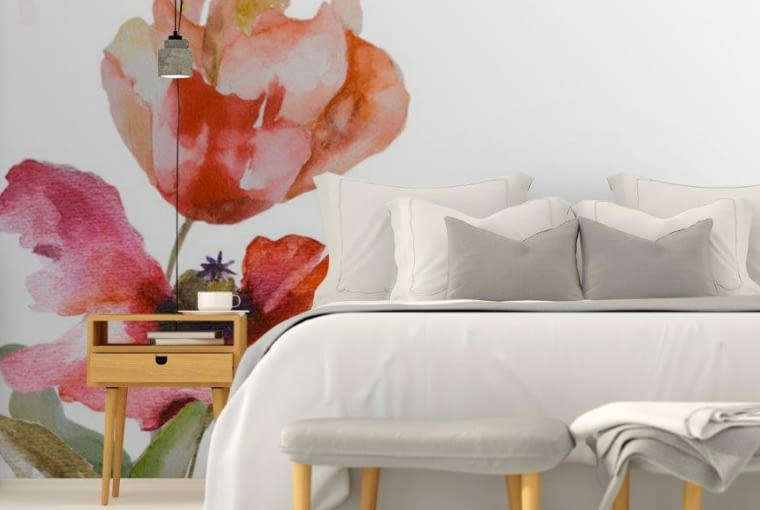 Fototapeta tulipany akwarele
