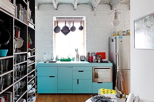 małe mieszkanie, mieszkanie w industrialnym stylu, mieszkanie w stylu loft, kawalerka, jak urządzić małe mieszkanie