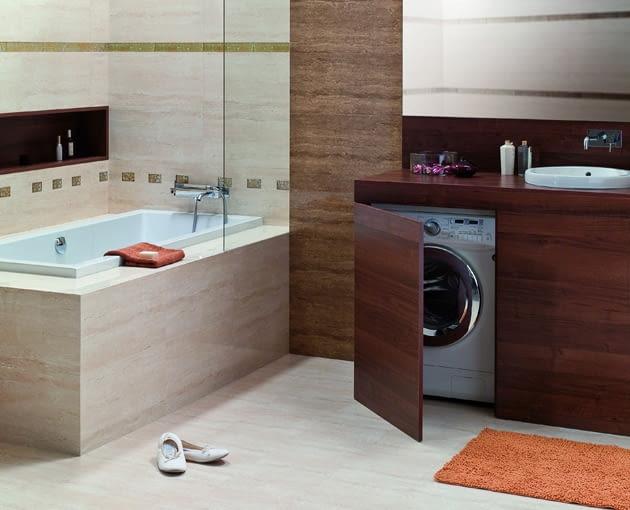 pralka w łazience, pralka wolno stojąca, pralka zabudowana w łazience