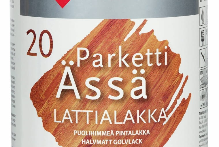 ŁAZIENKA. Lakier 1. Parketti Ässä, wyd. 7-10 m kw./l Tikkurila .117 zł/l
