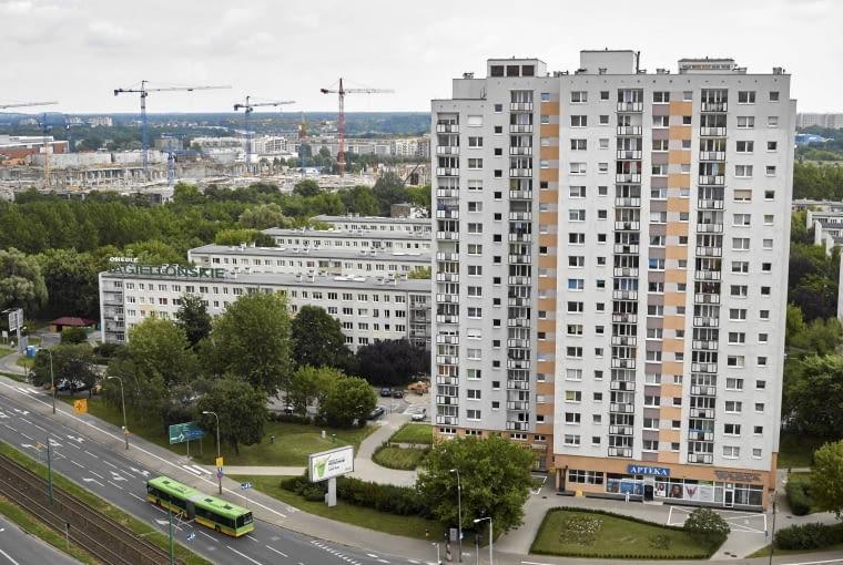 14.07.2015 Poznan , Rataje - poznanskie blokowisko . Panorama , widok na os. Jagiellonskie . Fot. Lukasz Cynalewski / Agencja Gazeta