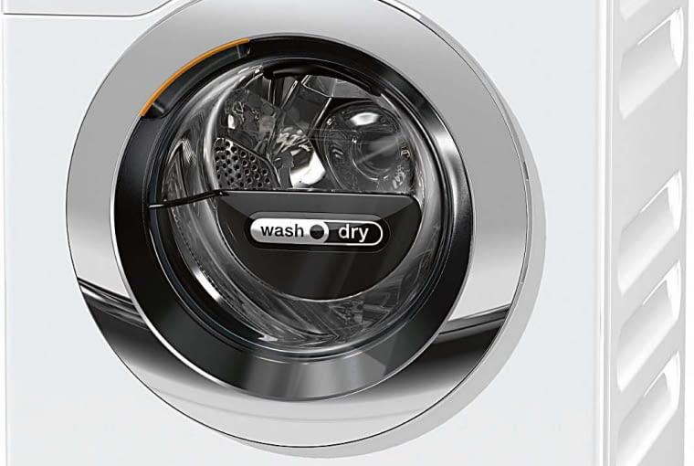 WTZH730, A/A/A pranie 8 kg, suszenie 5 kg, zużycie wody: pranie 72 l, pranie z suszeniem 105 l, 12 450 zł, Miele