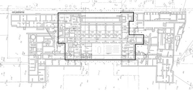 Adaptacja Podziemi Pałacu Saskiego na siedzibę Muzeum Utraconego - podziemie