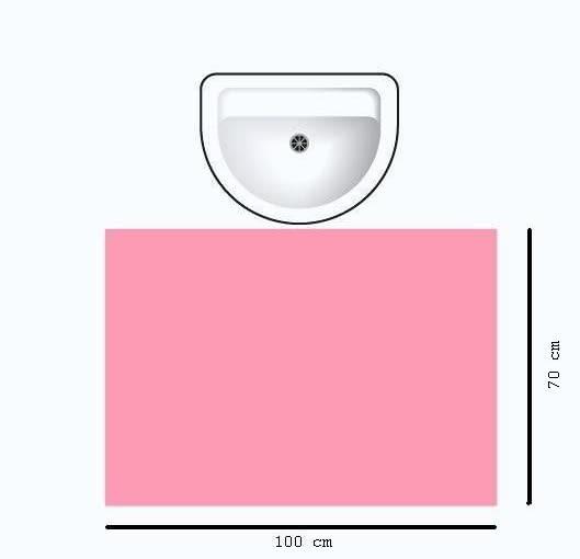 Minimalna przestrzeń potrzebna do wygodnego korzystania z umywalki