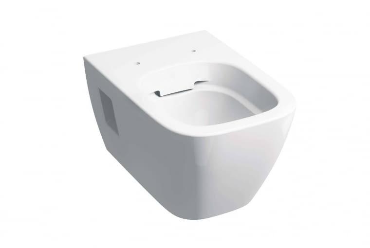 Koło Modo/KOŁO. Miska wykonana w technologii Rimfree, pozbawiona wewnętrznego kołnierza, dzięki czemu łatwiej utrzymać czystość i odpowiedni poziom higieny; dodatkowo miska może być poryta powłoką Reflex. Cena (netto): 798 zł, www.kolo.com.pl