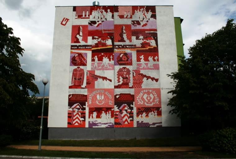 Mural autorstwa Krzysztofa Wróblewski, wykonany podczas pierwszej edycji Festiwalu Monumental Art na gdańskim osiedlu Zaspa.