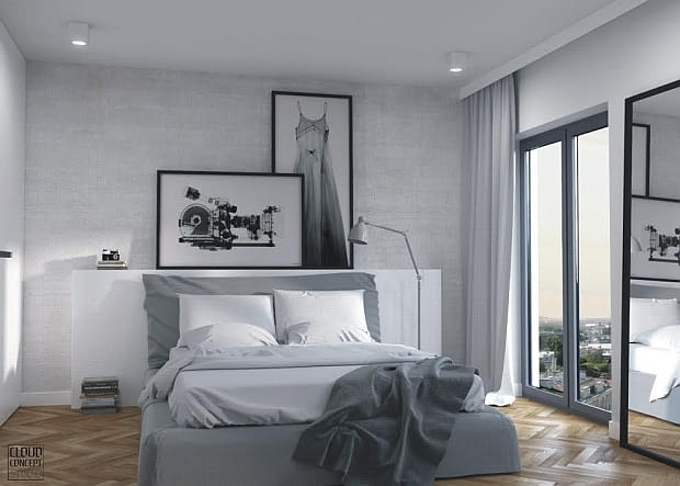 małe mieszkanie, mieszkanie w szarościach, przytulne mieszkanie, jak urządzić