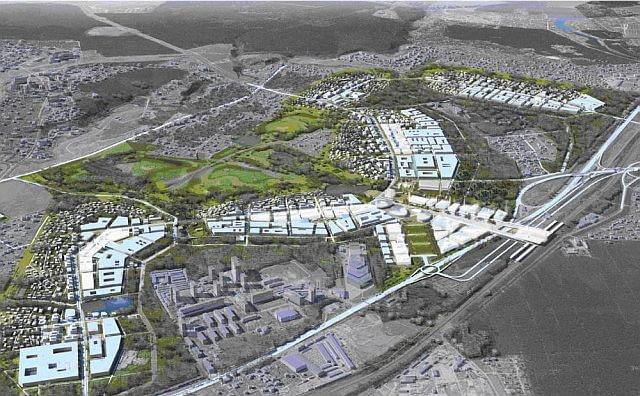 Plan urbanistyczny Skołkowa, proj. AREP, źródło: www.arep.fr