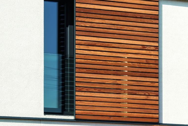 dom nowoczesny, dom pasywny, drewno na elewacji