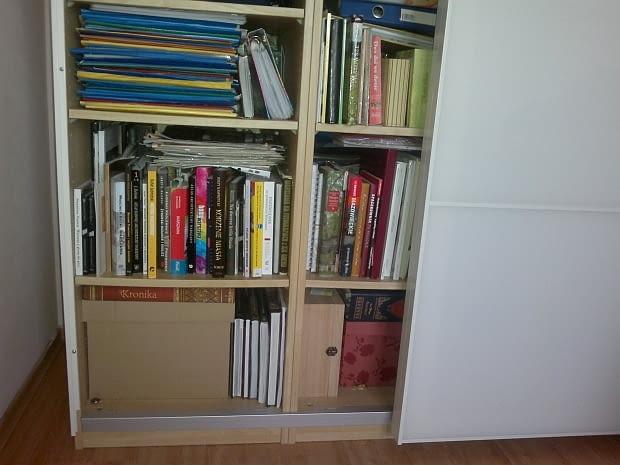 regał na książki, półka z książkami