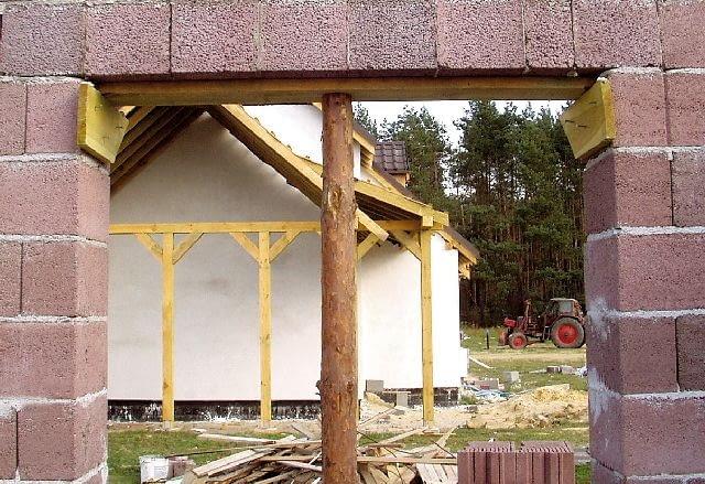 budowa domu,nadproża,nadproże z keramzytobetonowych kształtek U