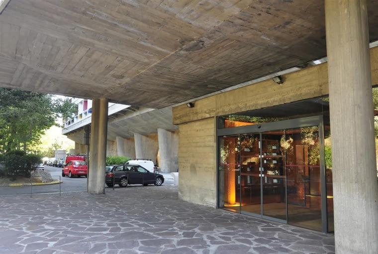 Jednostka Marsylska, proj. Le Corbusier - główne wejście do foyer